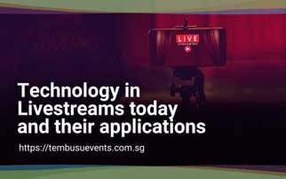 Technology in Livestreams today and their applications